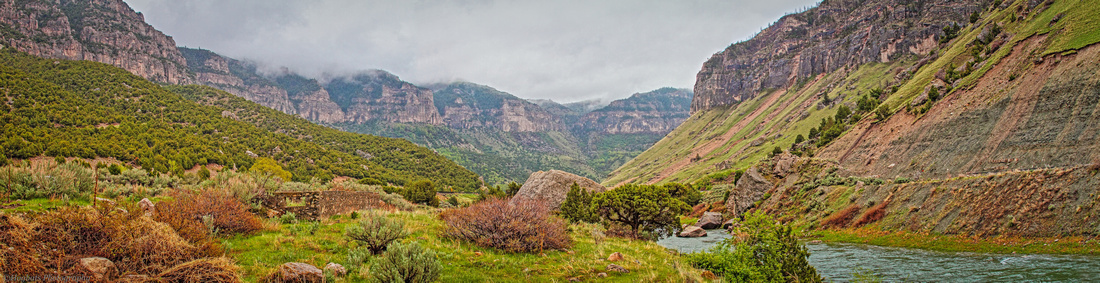 Wind River Canyon Panorama Spring 2016