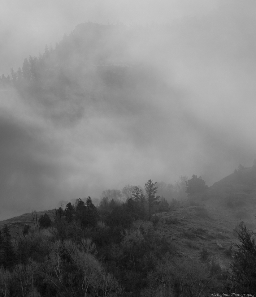 Wind River Canyon Foggy Spring Morning